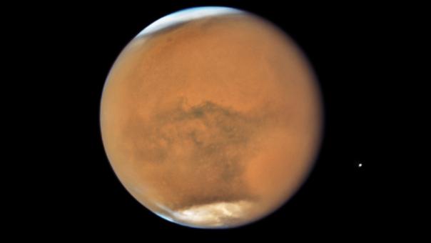 Marte fotografiado por el telescopio Hubble.