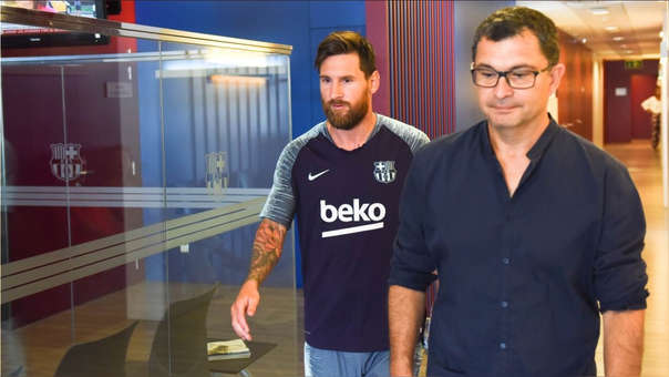 Lionel Messi volvió este martes a los entrenamientos de Barcelona.