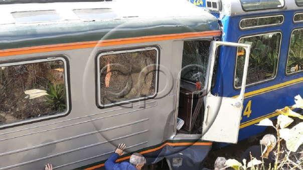 El choque de trenes en el Cusco dejó 35 personas heridas.