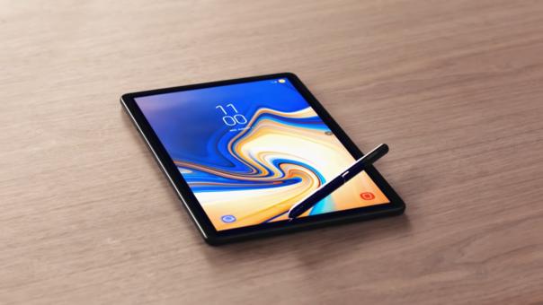 La nueva Samsung Tab S4 cuenta con un S Pen para apuntes, incluso con pantalla apagada
