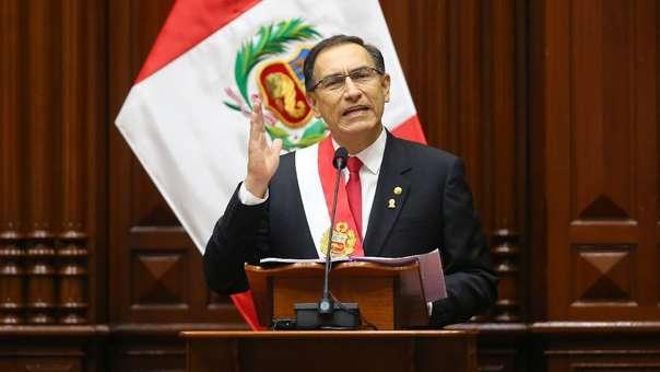 Martín Vizcarra durante su discurso por 28 de julio.