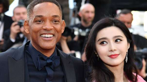 Fan junto a Will Smith en el Festival de Cannes del 2017.