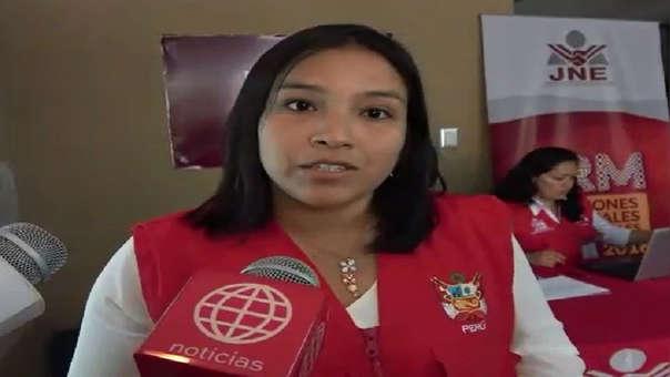 Responsable del programa Voto Informado, Diana Contreras.