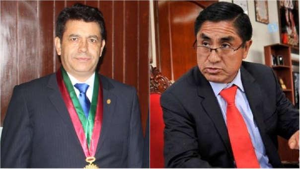 Tomás Gálvez y César Hinostroza