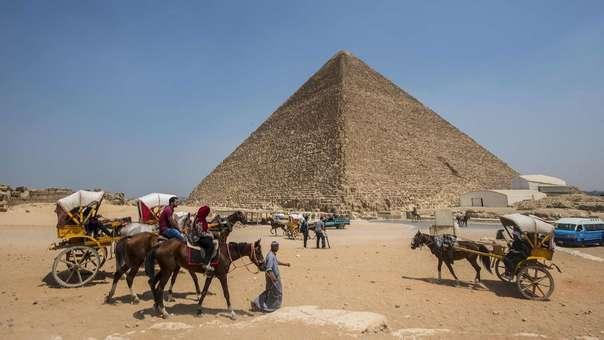 La gran pirámide de Giza, en Egipto.