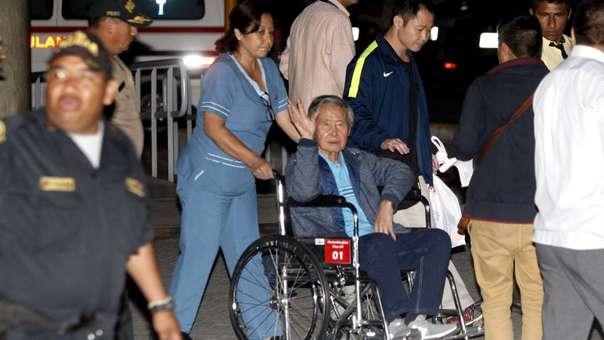 Alberto Fujimori fue internado nuevamente debido a su mal cardiaco.
