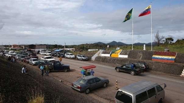 Vista general del paso fronteriza entre Brasil y Venezuela en la ciudad de Pacaraima, en el estado de Roraima.