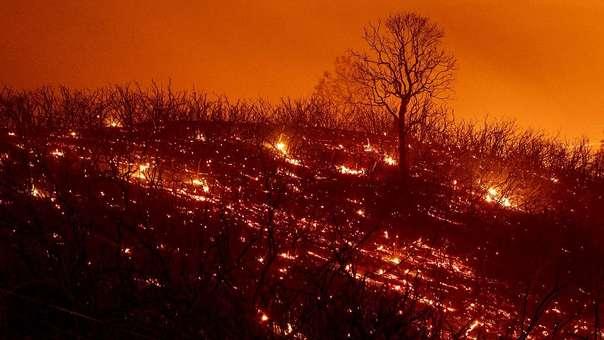 Parte del incendio más grande de la historia de California.