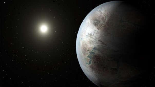 Representación de cómo se vería Kepler-452b.