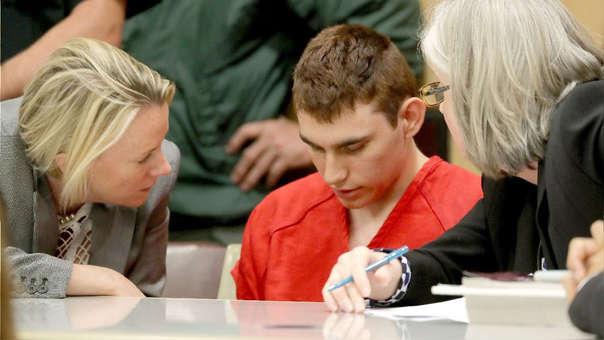 El autor confeso del tiroteo, Nikolas Cruz, durante su comparecencia ante la corte, en Fort Lauderdale, Florida (Estados Unidos).