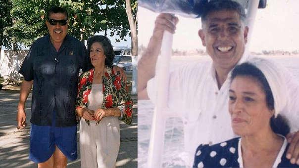 Rubén Aguirre y Consuelo, su esposa.