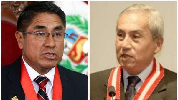 César Hinostroza y Pedro Chávarry