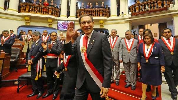 Martín Vizcarra el día de su discurso de 28 de julio.