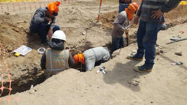 El hallazgo se produjo durante excavación para obra de alcantarillado