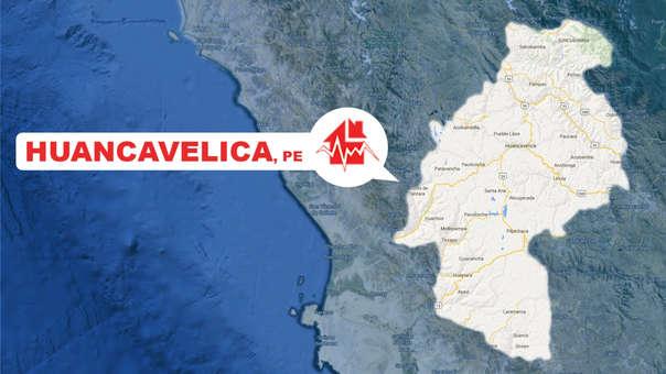 El sismo se originó en la provincia de Huaytará al sur de Huancavelica.