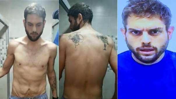 Las imágenes muestran al diputado semidesnudo (izquierda y centro). Horas antes, el Gobierno venezolano difundió otro video en el que reconoció su supuesto contacto con un implicado en el ataque a Maduro (derecha).
