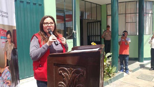 Ministra de la Mujer llegó a la localidad de Zaña