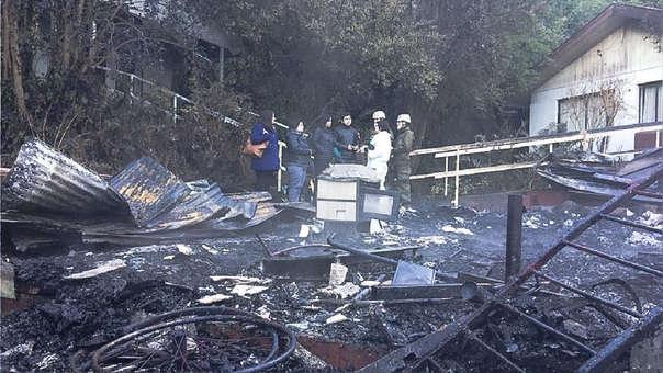 Restos del centro de ancianos que se incendió la madrugada de este martes.