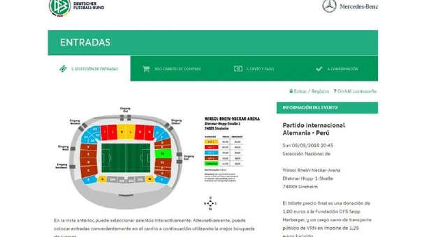 El Rhein Neckar Arena será el escenario que albergará el amistoso entre Perú y Alemania.