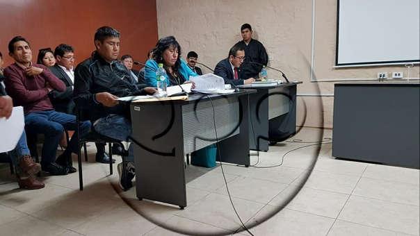 Audiencia de pedido de prisión preventiva de policía que pidió coima.