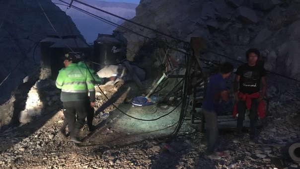 Accidente en labor minera