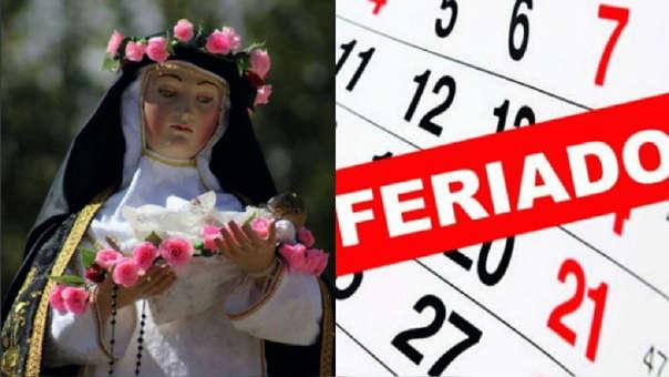 Este jueves 30 de agosto se conmemora el día de Santa Rosa de Lima en el Perú y otros países. Santa Rosa es patrona del Perú, América y las Filipinas.