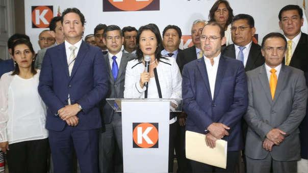 Keiko Fujimori es la lideresa de Fuerza Popular, el partido con la bancada mayoritaria del Congreso.