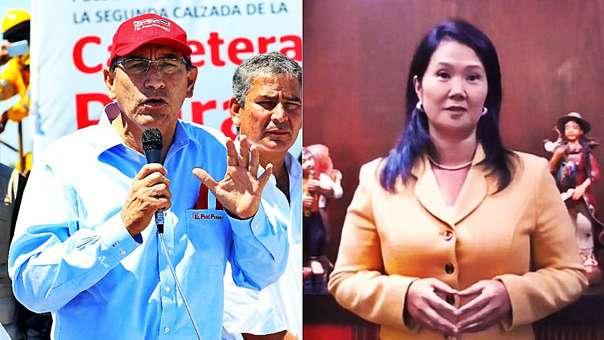 Keiko Fujimori criticó a Martín Vizcarra, quien respondió asegurando que no entra a las confrontaciones.