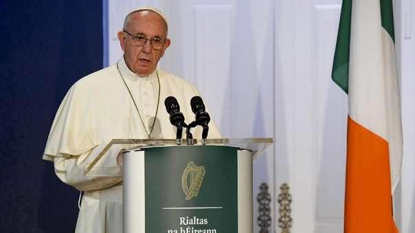 El papa Francisco durante su discurso en Irlanda ante las autoridades.