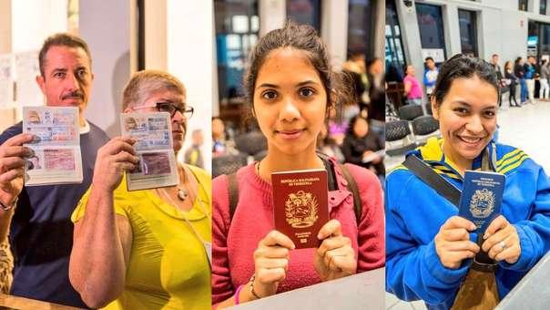 Migraciones realizó control migratorio de venezolanos con pasaporte.