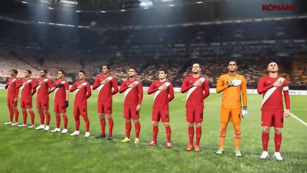 La Selección Peruana aparecerá en el PES 19 con los uniformes que usó en el Mundial Rusia 2018.