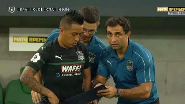 Christian Cueva llegó al Krasnodar luego de jugar dos temporadas en Sao Paulo.