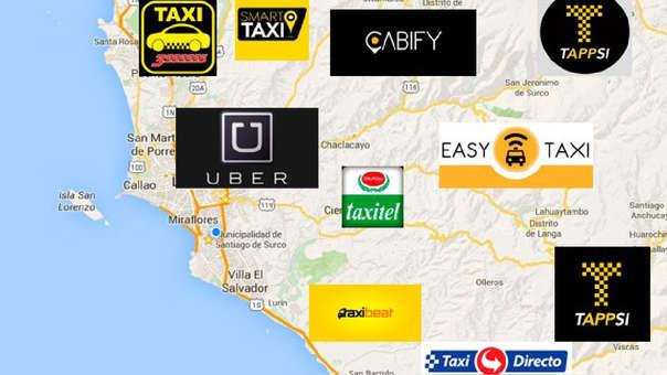 Las aplicaciones de taxi, e su mayoría, sirven como intermediarios del servicio.
