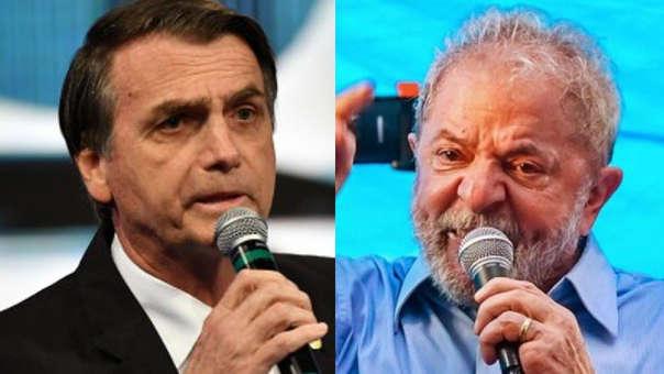 Jair Bolsonaro y Lula da Silva