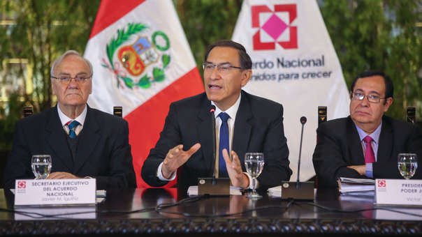 Martín Vizcarra durante la reunión del Acuerdo Nacional de este martes.