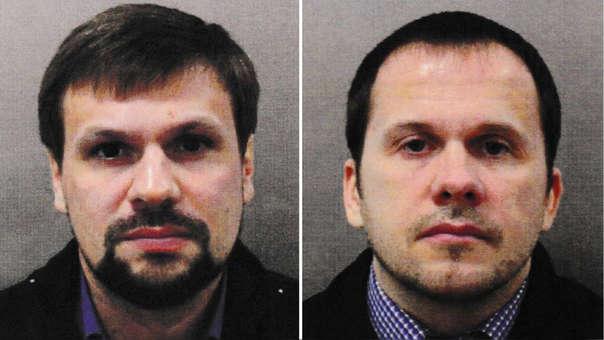Alexander Petrov (d) y Ruslan Boshirov (i) fueron identificados por el Reino Unidos como sospechosos del envenenamiento de los Skripal.