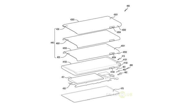 Una nueva patente de Samsung muestra un notch lateral