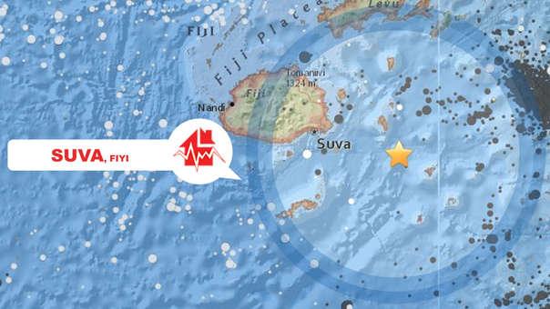Terremoto en Fiyi.