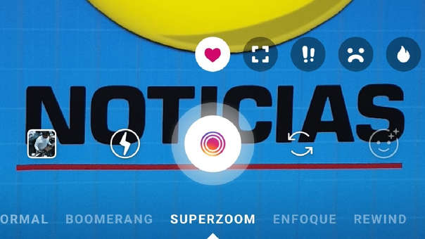 Así luce la nueva barra de SuperZoom en los Stories de Instagram