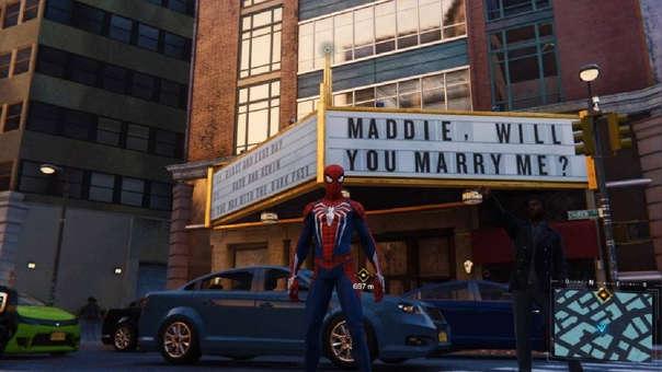 Propuesta de matrimonio en Spider-Man