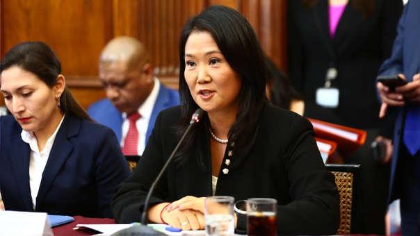Keiko Fujimori en el Parlamento.