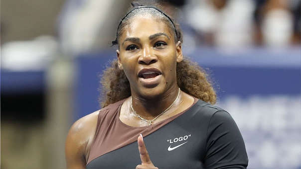Serena Williams durante la final del US Open