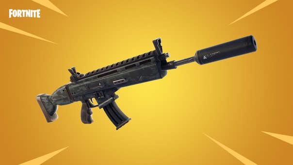 Fusil de asalto con silenciador