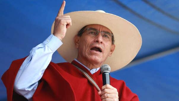 Martín Vizcarra volvió a defender la lucha contra la corrupción este martes durante su paso por Cajamarca.