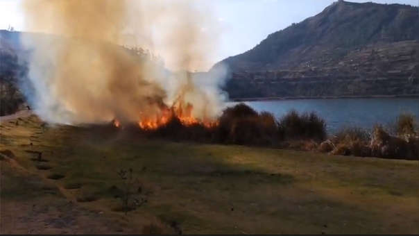 Incendio en Totorales de Laguna