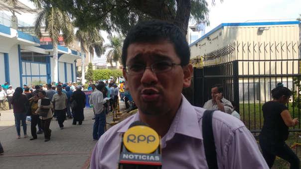 Dirigente de los trabajadores judiciales, Luis Escajadillo