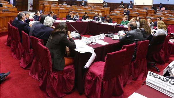 Sesión de la Comisión de Constitución en la que no se llegó a un acuerdo sobre la reforma judicial.