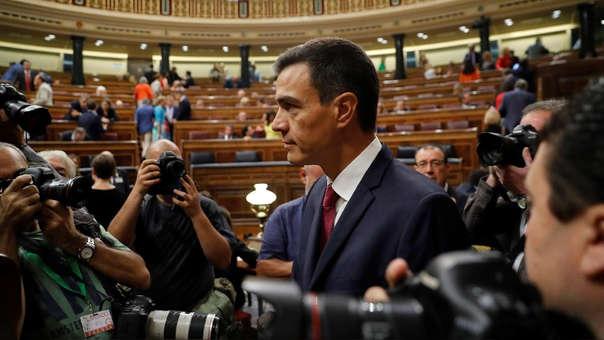 El presidente del Gobierno, Pedro Sánchez, a su llegada a la sesión de control al Gobierno hoy en el Congreso.