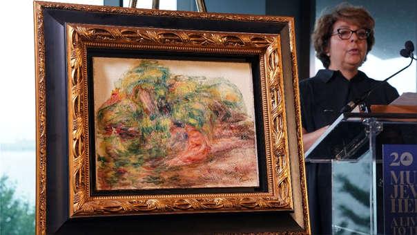 Dos mujeres en un jardín (1919), la pintura de  Pierre Auguste Renoir y devuelta a la heredera de su dueño.