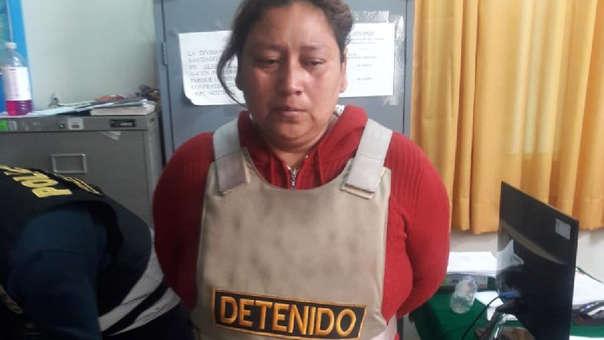 Danyk Farfán Retto fue capturada en un hospedaje ubicado en el distrito de Santiago.